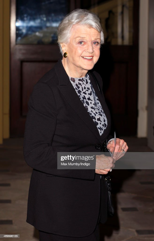 Dame Angela Lansbury attends a Dramatic Arts reception hosted by Queen Elizabeth II at Buckingham Palace on February 17, 2014 in London, England.