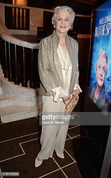 Dame Angela Lansbury attends an after party celebrating the press night performance of 'Blithe Spirit' at the Rosewood Hotel on March 18 2014 in...