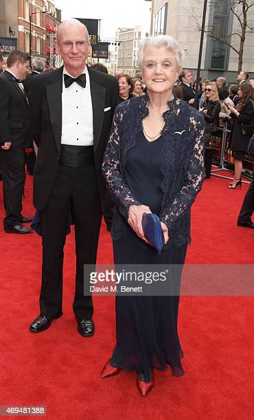 Dame Angela Lansbury attends The Olivier Awards at The Royal Opera House on April 12 2015 in London England