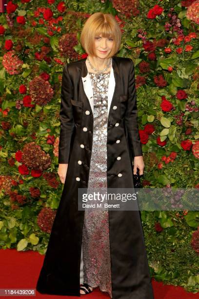 Dame Anna Wintour attends 65th Evening Standard theatre Awards in association with Michael Kors at the London Coliseum on November 24, 2019 in...