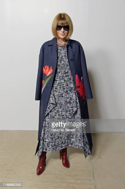 Dame Anna Wintour attends the Burberry September 2019 show during London Fashion Week, on September 16, 2019 in London, England.