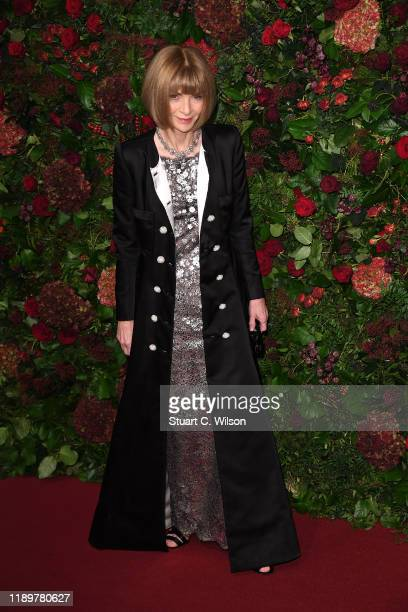 Dame Anna Wintour, Co-Host Editor-In-Chief US Vogue attends the 65th Evening Standard Theatre Awards at London Coliseum on November 24, 2019 in...