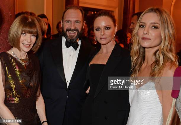 Dame Anna Wintour Ralph Fiennes Stella McCartney and Annabelle Wallis attend The 64th Evening Standard Theatre Awards at the Theatre Royal Drury Lane...