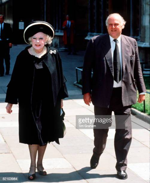 Dame Barbara Cartland At The Memorial Service For Earl Spencer The Father Of Diana Princess Of Wales She Is The Mother Of Raine Spencer And Diana's...