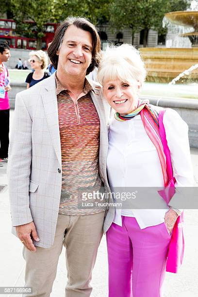 Dame Barbara Windsor and husband Scott Mitchell poses during joins team London Ambassadors to show London is open to visitors from around the world...