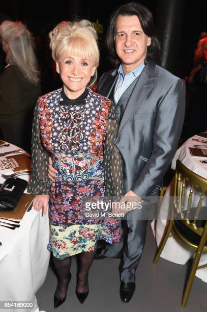 Dame Barbara Windsor and Scott Mitchell attend the Roundhouse Gala at The Roundhouse on March 16 2017 in London England