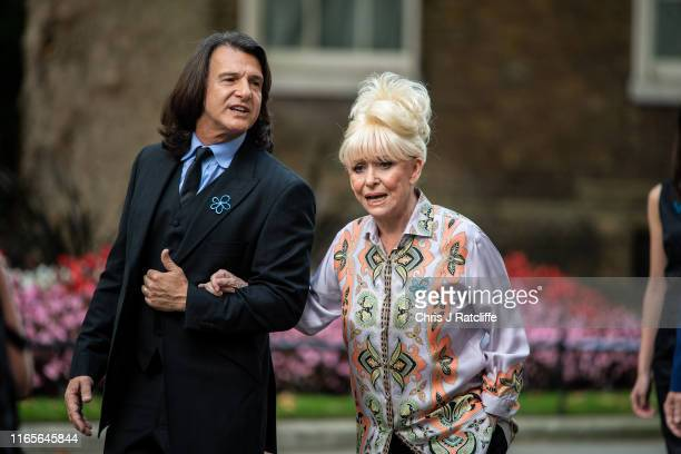 Dame Barbara Windsor arrives at 10 Downing Street with her husband Scott Mitchell on September 2 2019 in London England Barbara Windsor who suffers...