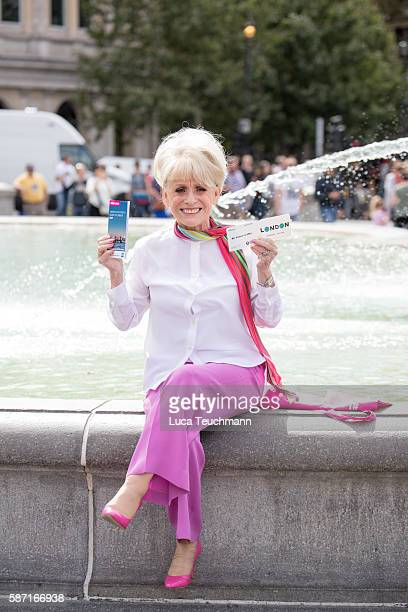 Dame Barbara Windsor DBE joins team London Ambassadors to show London is open to visitors from around the world at Trafalgar Square on August 8 2016...