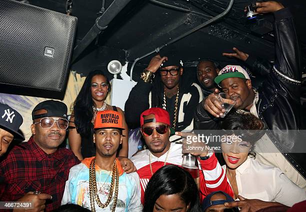 Dame Dash Juelz Santana Cam'ron 2 Chainz and Deelishis attend Camron's KillaBowl at WIP on February 2 2014 in New York City