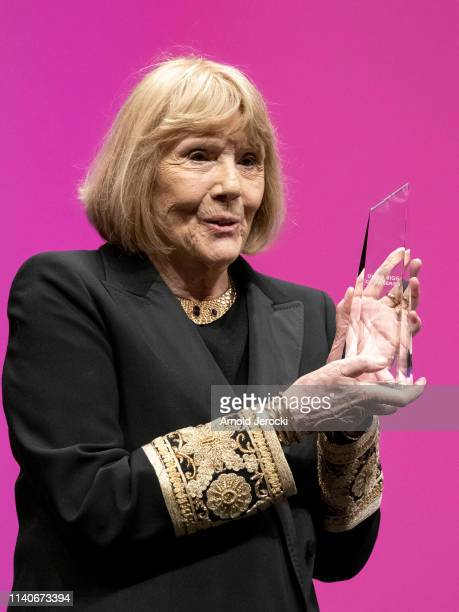 Dame Diana Rigg accepts the Variety Icon Award at the 2nd Canneseries International Series Festival Opening Ceremony on April 05 2019 in Cannes France