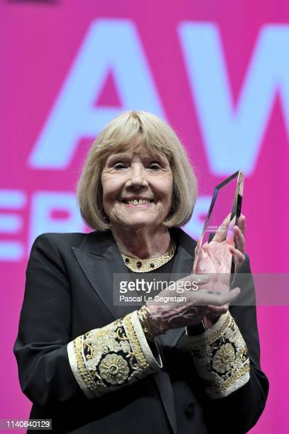Dame Diana Rigg accepts the Variety Icon Award at the 2nd Cannesseries - International Series Festival : Opening Ceremony In Cannes on April 05, 2019...