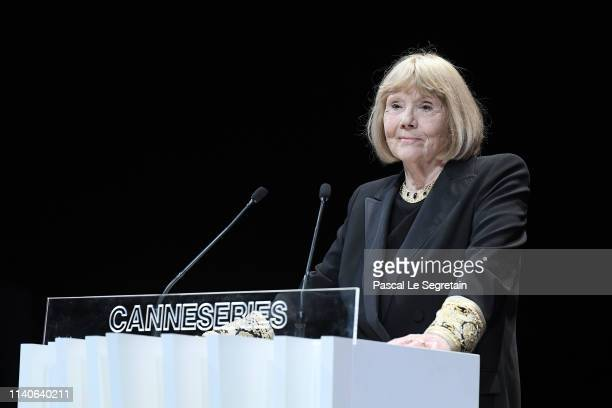 Dame Diana Rigg accepts the Variety Icon Award at the 2nd Cannesseries International Series Festival Opening Ceremony In Cannes on April 05 2019 in...