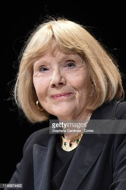 Dame Diana Rigg accepts the Variety Icon Award during the 2nd Canneseries - International Series Festival : Opening Ceremony on April 05, 2019 in...