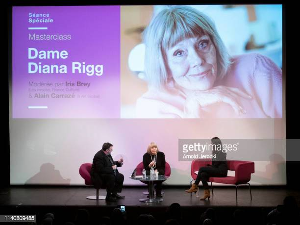 Dame Diana Rigg attends her masterclass during the 2nd Canneseries International Series Festival day two on April 06 2019 in Cannes France