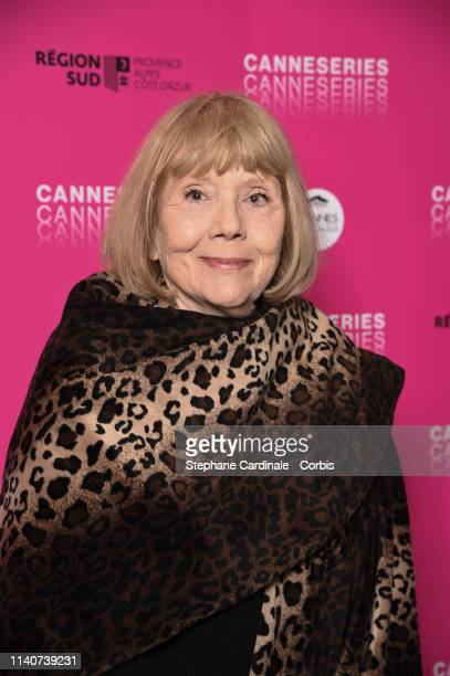 Dame Diana Rigg attends the 2nd Canneseries International Series Festival Day Two on April 06 2019 in Cannes France