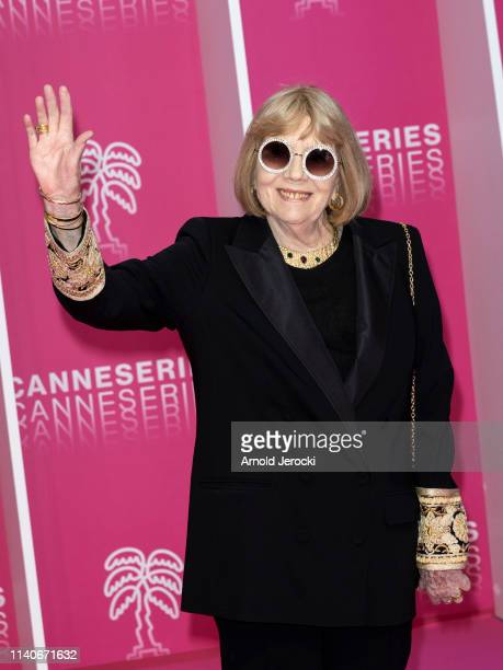 Dame Diana Rigg attends the 2nd Canneseries International Series Festival Opening Ceremony on April 05 2019 in Cannes France