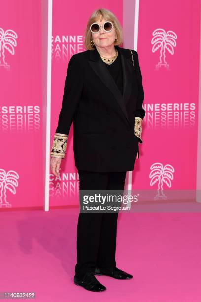 Dame Diana Rigg attends the 2nd Cannesseries International Series Festival Opening Ceremony In Cannes on April 05 2019 in Cannes France