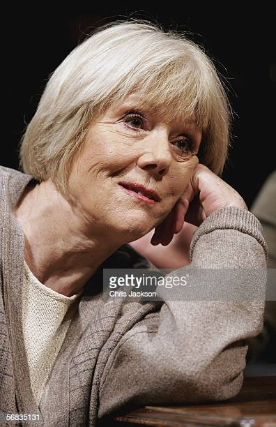 Dame Diana Rigg performs during the photocall for the new stage production of Honour at Wyndham's Theatre on February 13 2006 in London England