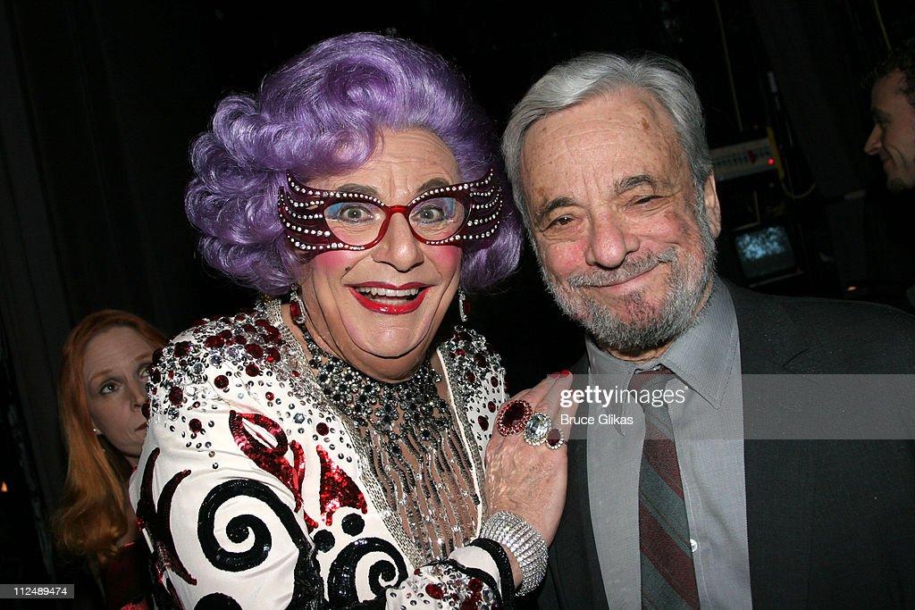 Dame Edna Everage and Stephen Sondheim *exclusive*