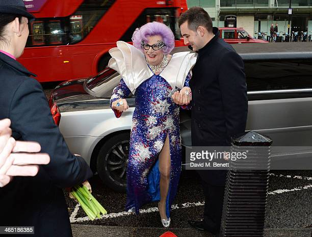 Dame Edna Everage celebrates Australia Day at the 'Qantas Presents Sunday At Australia House' event at Australia House on January 26 2014 in London...