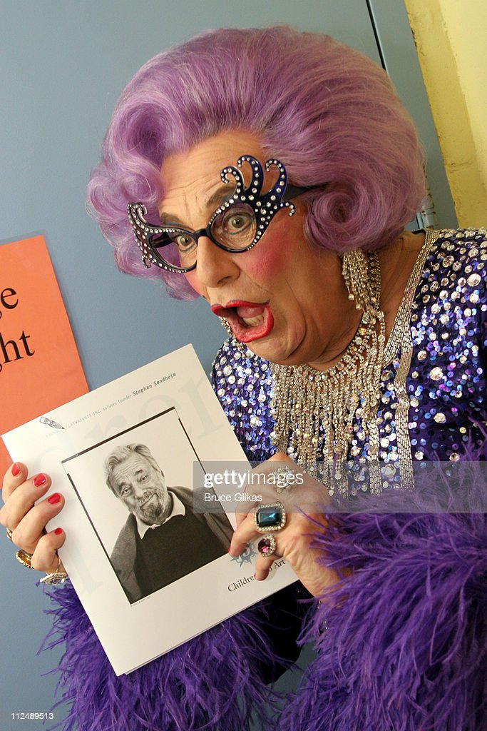 Dame Edna Everage during The All-Star Stephen Sondheim 75th Birthday Celebration 'Children and Art' - Inside at Broadway's New Amsterdam Theatre in New York City, New York, United States.