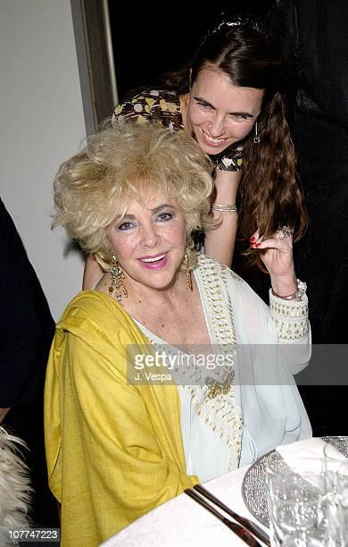 Dame Elizabeth Taylor and Naomi Wilding during amfAR and the Diamond Information Center Honor Dame Elizabeth Taylor with the FirstEver Diamond Icon...