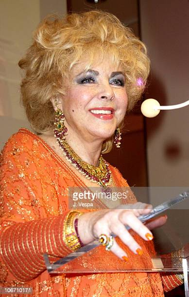 Dame Elizabeth Taylor during InStyle Magazine Gala to Celebrate the Release of Elizabeth Taylor My Love Affair with Jewelry at Christie's in New York...