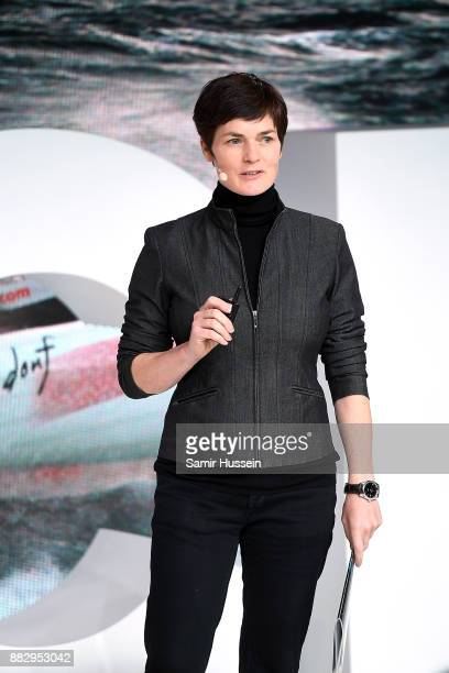 Dame Ellen McArthur speaks on stage during #BoFVOICES on November 30 2017 in Oxfordshire England
