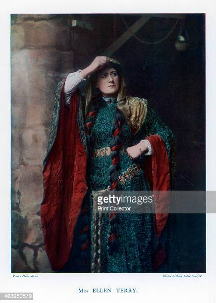Dame Ellen Terry English stage actress 1901 Pictured in the role of Lady Macbeth