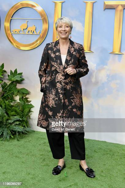 """Dame Emma Thompson attends a special screening of """"Dolittle"""" at Cineworld Leicester Square on January 25, 2020 in London, England."""