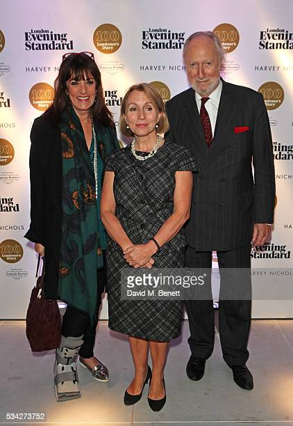 Dame Gail Rebuck and Ed Victor attend the London Evening Standard Londoner's Diary 100th Birthday Party in partnership with Harvey Nichols at Harvey...
