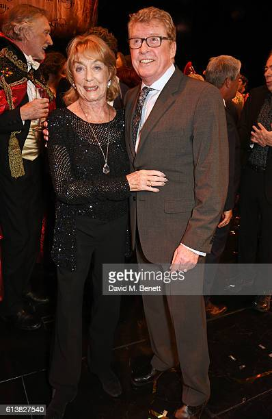 Dame Gillian Lynne and original Phantom Michael Crawford pose onstage at The Phantom Of The Opera 30th anniversary charity gala performance in aid of...