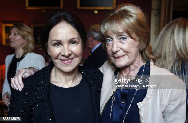 Dame Gillian Lynne with Arlene Phillips at the launch of her DVD entitled 'Longevity Through Exercise' at the Garrick Club London