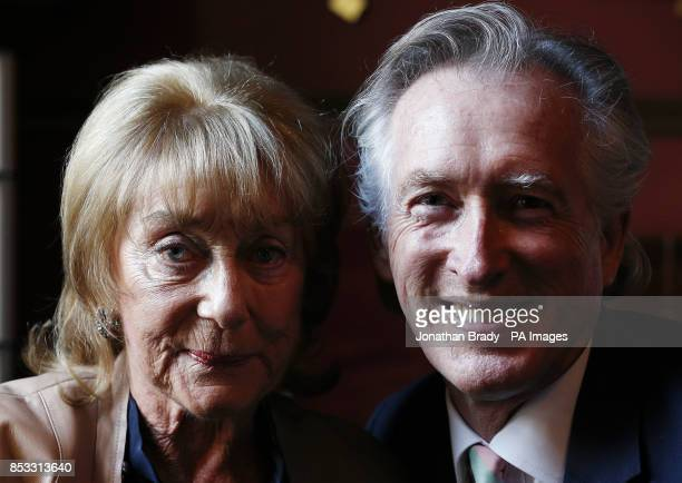 Dame Gillian Lynne with her husband Peter Land attend the launch of her DVD entitled 'Longevity Through Exercise' at the Garrick Club London
