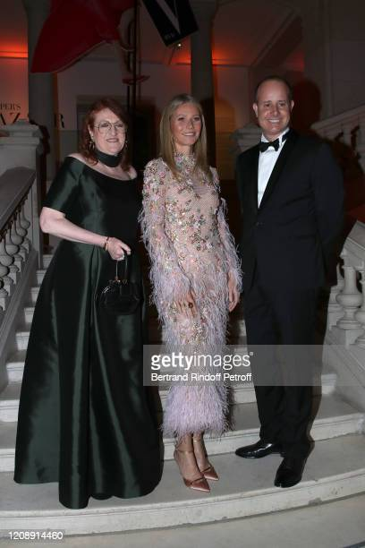 Dame Glenda Bailey Gwyneth Paltrow and President of the Musee des Arts Decoratifs PierreAlexis Dumas attend the Harper's Bazaar Exhibition as part of...