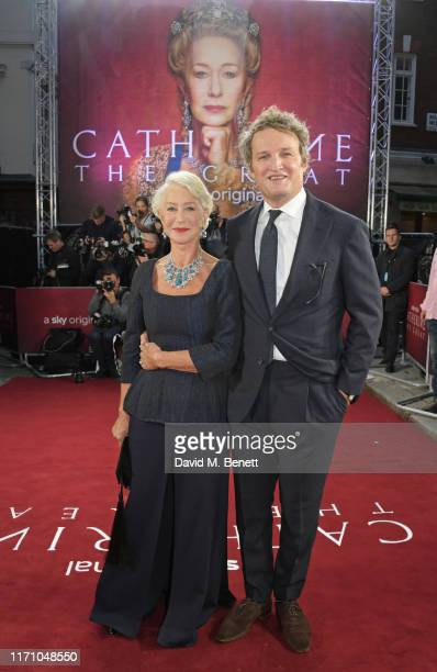 """Dame Helen Mirren and Jason Clarke attend the Premiere Screening of new Sky Atlantic drama """"Catherine The Great"""" at The Curzon Mayfair on September..."""