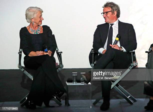 """Dame Helen Mirren and Jason Clarke speak at a Q&A following the Premiere Screening of new Sky Atlantic drama """"Catherine The Great"""" at The Curzon..."""