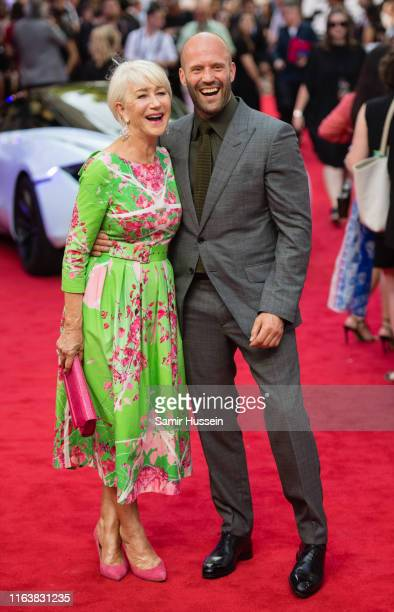 """Dame Helen Mirren and Jason Statham attend the """"Fast & Furious: Hobbs & Shaw"""" Special Screening at The Curzon Mayfair on July 23, 2019 in London,..."""