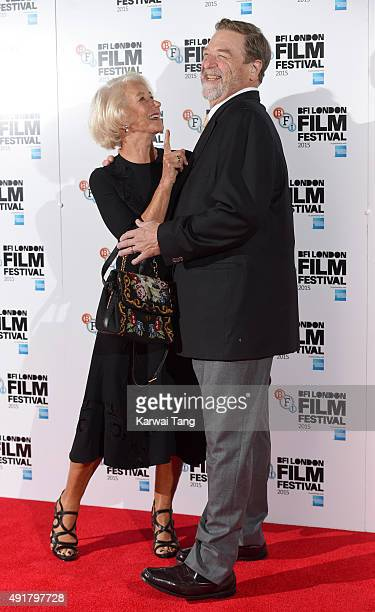 Dame Helen Mirren and John Goodman attend a photocall for 'Trumbo' during the BFI London Film Festival at Corinthia Hotel London on October 8 2015 in...