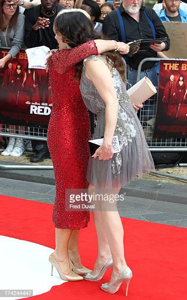 Dame Helen Mirren and MaryLouise Parker attend the Red 2 Premiere at Empire Leicester Square on July 22 2013 in London England