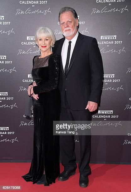 Dame Helen Mirren and Taylor Hackford attend the 2017 Pirelli Calendar Gala Dinner at La Cite Du Cinema on November 29 2016 in SaintDenis France