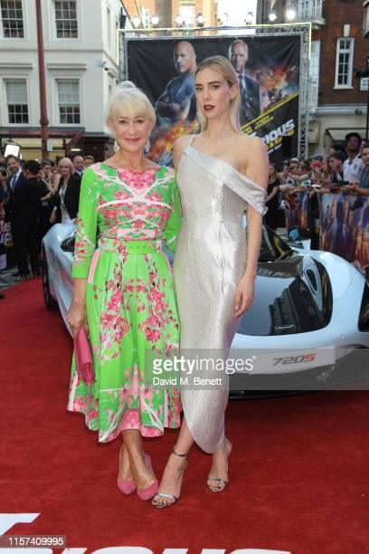 """Dame Helen Mirren and Vanessa Kirby attend a special screening of """"Fast & Furious: Hobbs & Shaw"""" at The Curzon Mayfair on July 23, 2019 in London,..."""