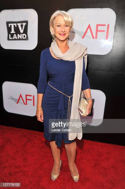 Dame Helen Mirren arrives at AFI's 39th Annual Achievement Award Honoring Morgan Freeman at Sony Pictures Studios on June 9, 2011 in Culver City,...