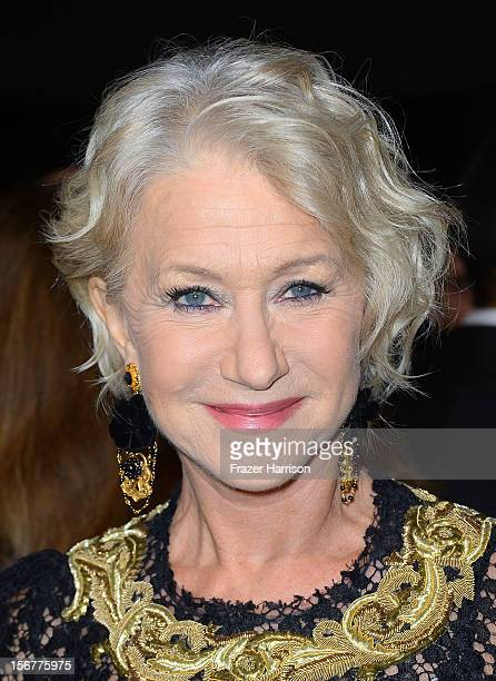 Dame Helen Mirren arrives at the premiere of Fox Searchlight Pictures' Hitchcock at the Academy of Motion Picture Arts and Sciences Samuel Goldwyn...