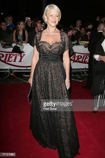 Dame Helen Mirren arriving at the National Movie Awards on September 28 2007 in London England