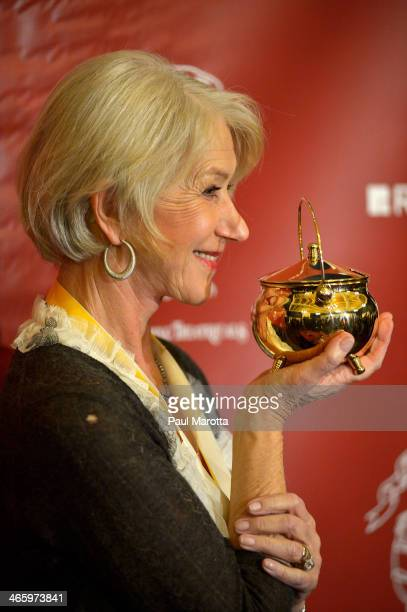 Dame Helen Mirren at the Hasty Pudding Theatricals press conference at the 2014 Woman Of The Year Award honoring Helen Mirren at Harvard University...