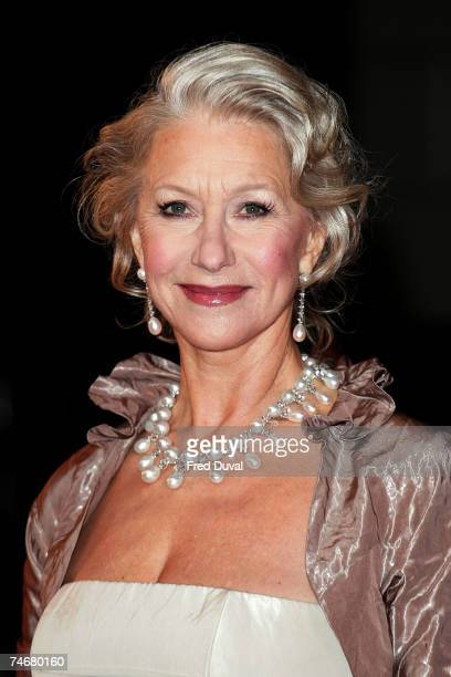 Dame Helen Mirren at the The Orange British Academy Film Awards 2007 Red Carpet Arrivals at Royal Opera House in London