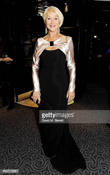 Dame Helen Mirren attends a drinks reception at the 59th London Evening Standard Theatre Awards at The Savoy Hotel on November 17 2013 in London...