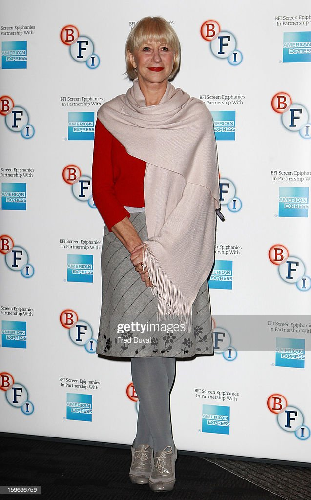 Dame Helen Mirren attends a photocall as part of the BFI Epiphanies series, to introduce a screening of the film that inspired her - 'L'Atlante' at BFI Southbank on January 18, 2013 in London, England.