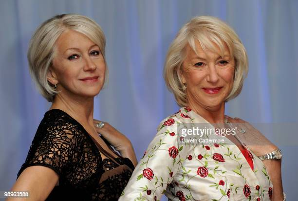 Dame Helen Mirren attends a photocall to unveil a new waxwork of herself at Madame Tussauds on May 11 2010 in London England